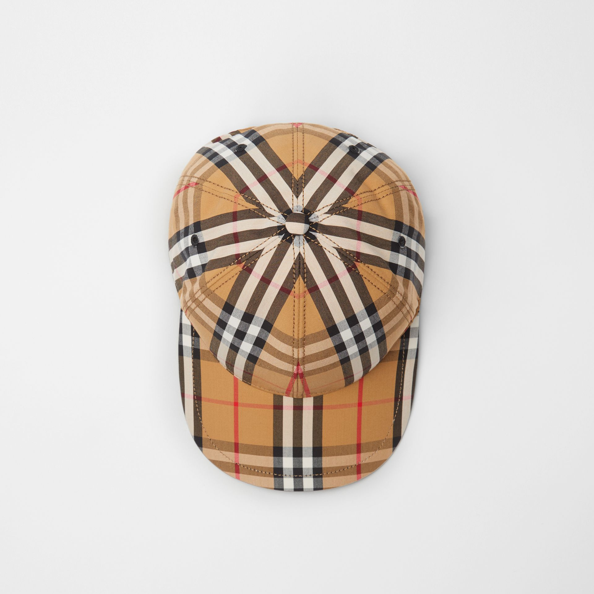 Vintage Check Baseball Cap in Antique Yellow | Burberry Hong Kong - gallery image 0