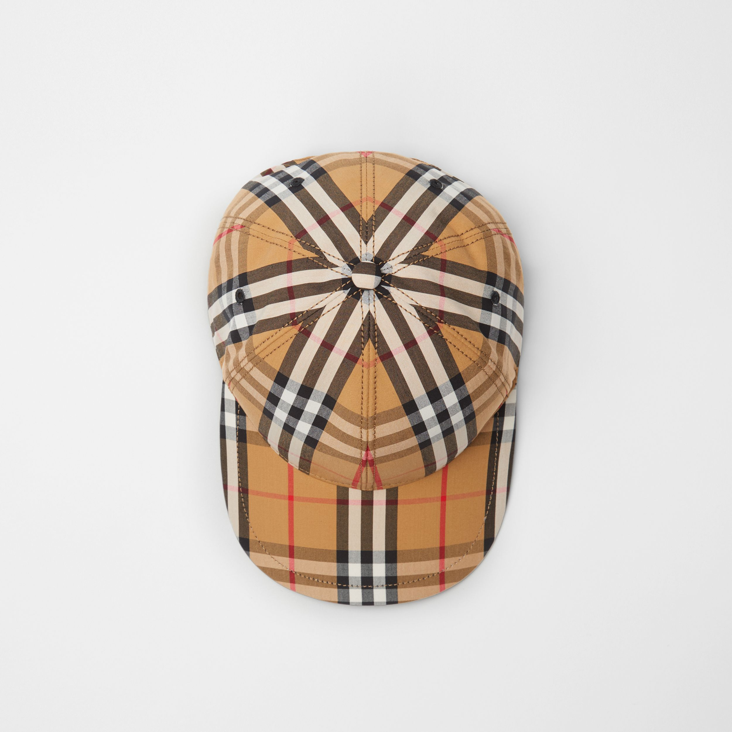 Vintage Check Baseball Cap in Antique Yellow | Burberry - 1