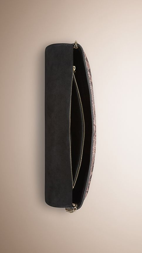 Trench Medium Python Clutch Bag - Image 5