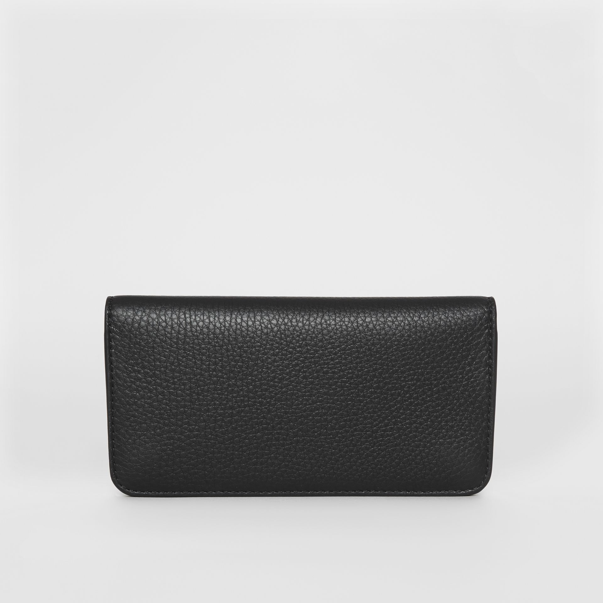Leather Phone Wallet in Black - Women | Burberry - gallery image 5