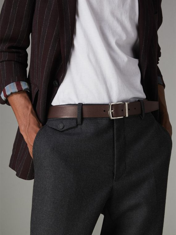 Reversible London Leather Belt in Black/chocolate - Men | Burberry Singapore - cell image 3