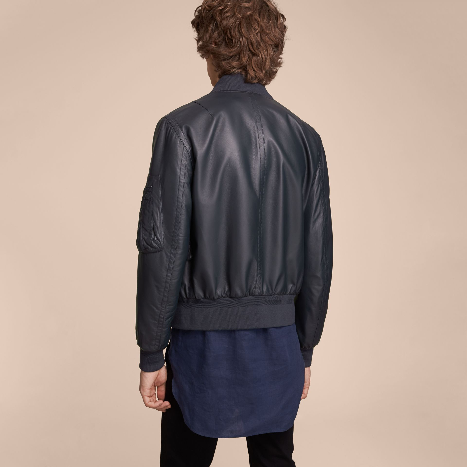 Lambskin Bomber Jacket - Men | Burberry - gallery image 3