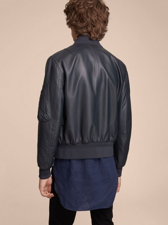 Lambskin Bomber Jacket - Men | Burberry - cell image 2