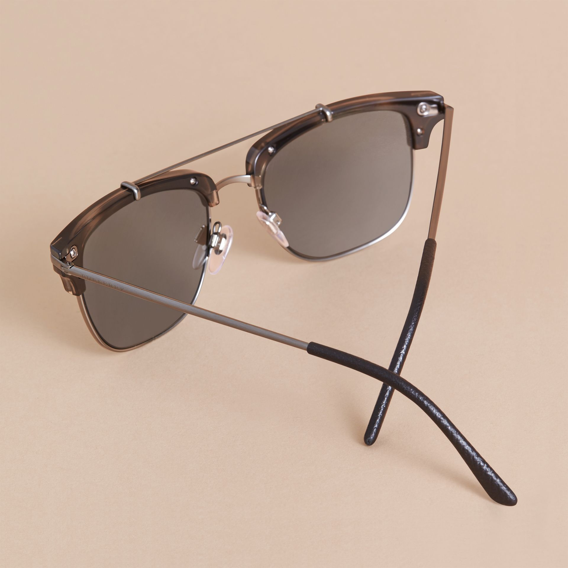 Square Frame Sunglasses in Grey - gallery image 4