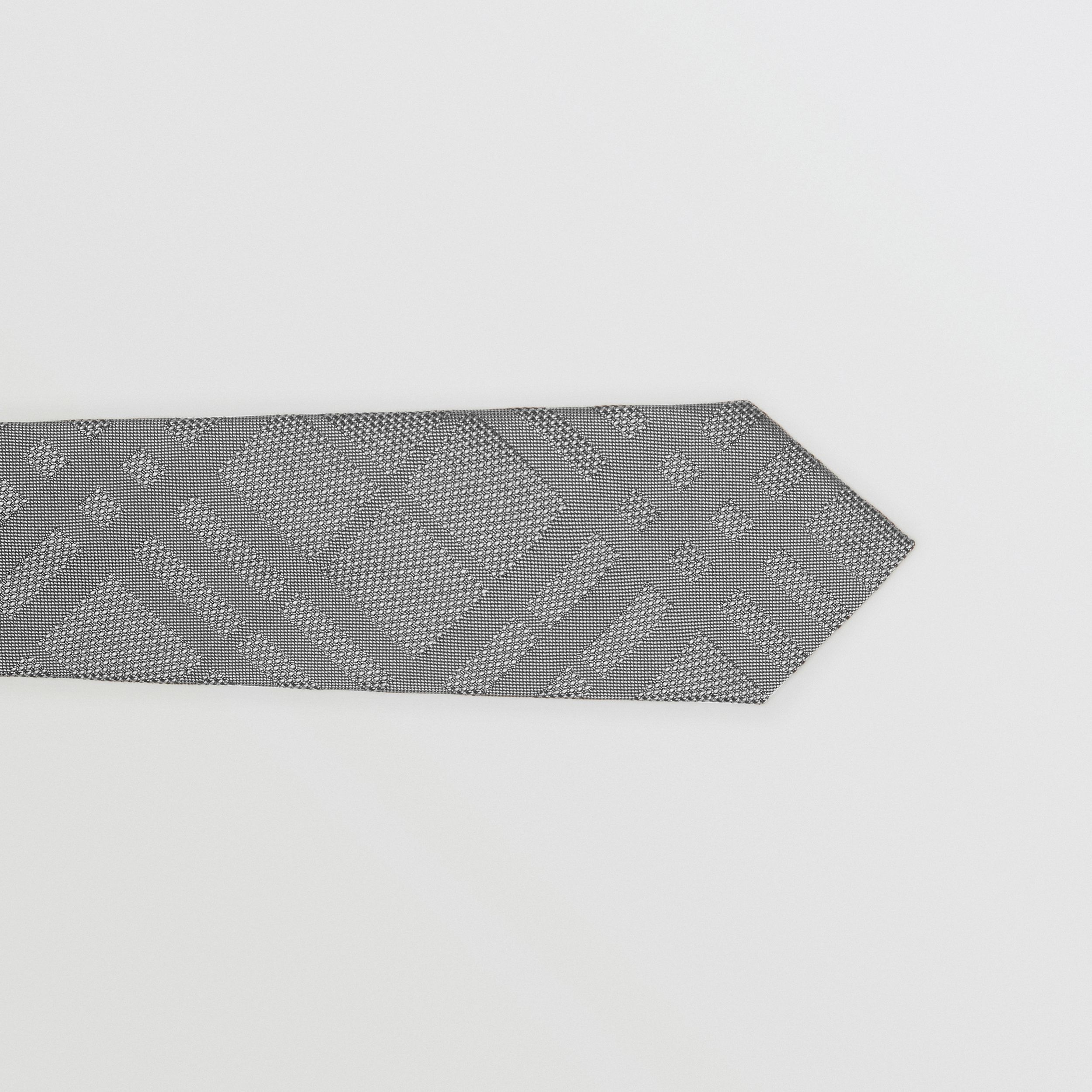 Classic Cut Check Silk Jacquard Tie in Charcoal - Men | Burberry - 2