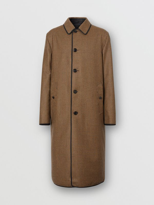 Reversible Check Wool Lab Coat in Beige - Men | Burberry - cell image 3