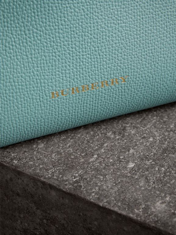The Small Banner in Tri-tone Leather and House Check in Pale Opal/slate Blue - Women | Burberry - cell image 1