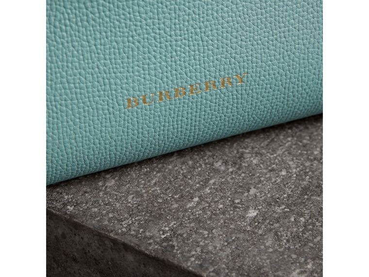 The Small Banner in Tri-tone Leather and House Check in Pale Opal/slate Blue - Women | Burberry Singapore - cell image 1