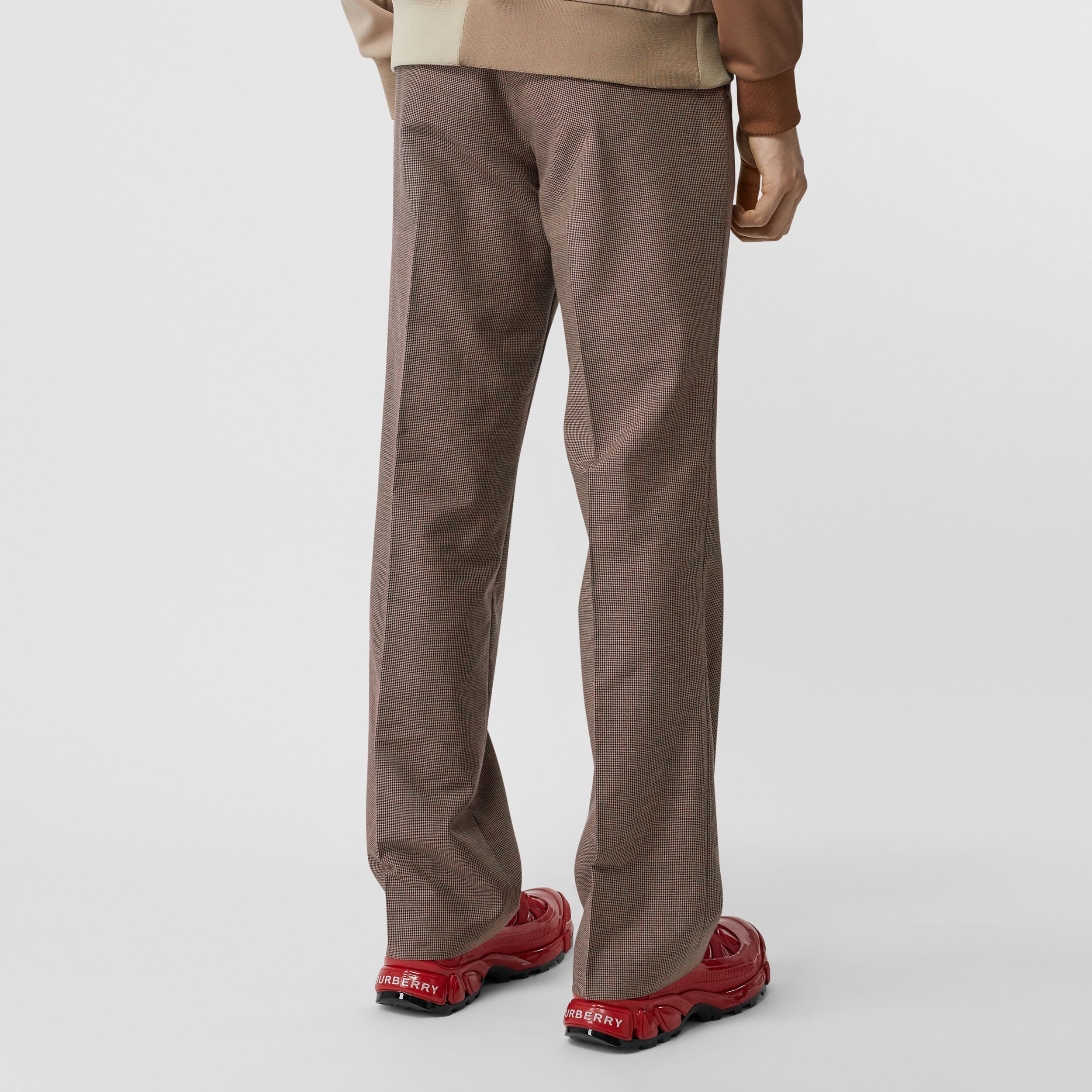 Pocket Detail Wool Tailored Trousers in Beige - Men | Burberry - 3
