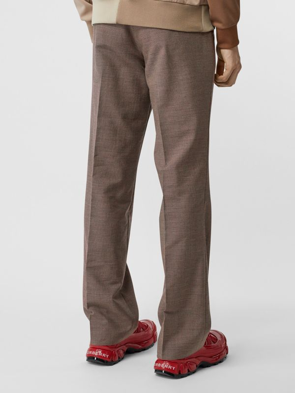 Pocket Detail Wool Tailored Trousers in Beige - Men | Burberry Hong Kong S.A.R - cell image 2