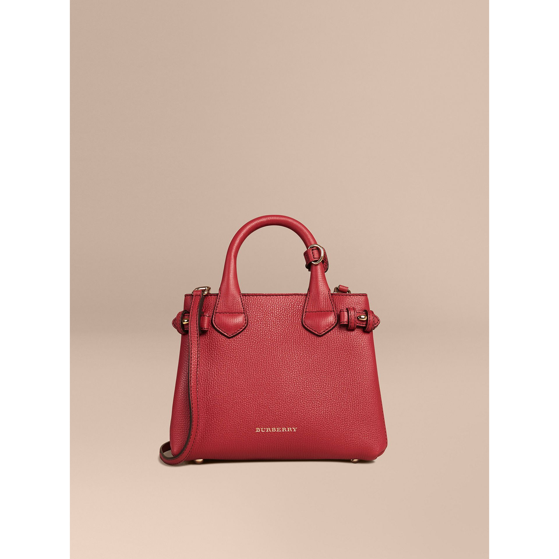 The Baby Banner in Leather and House Check in Russet Red - Women | Burberry - gallery image 7