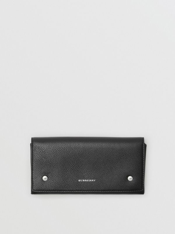 Two-tone Leather Continental Wallet in Black - Women | Burberry - cell image 3