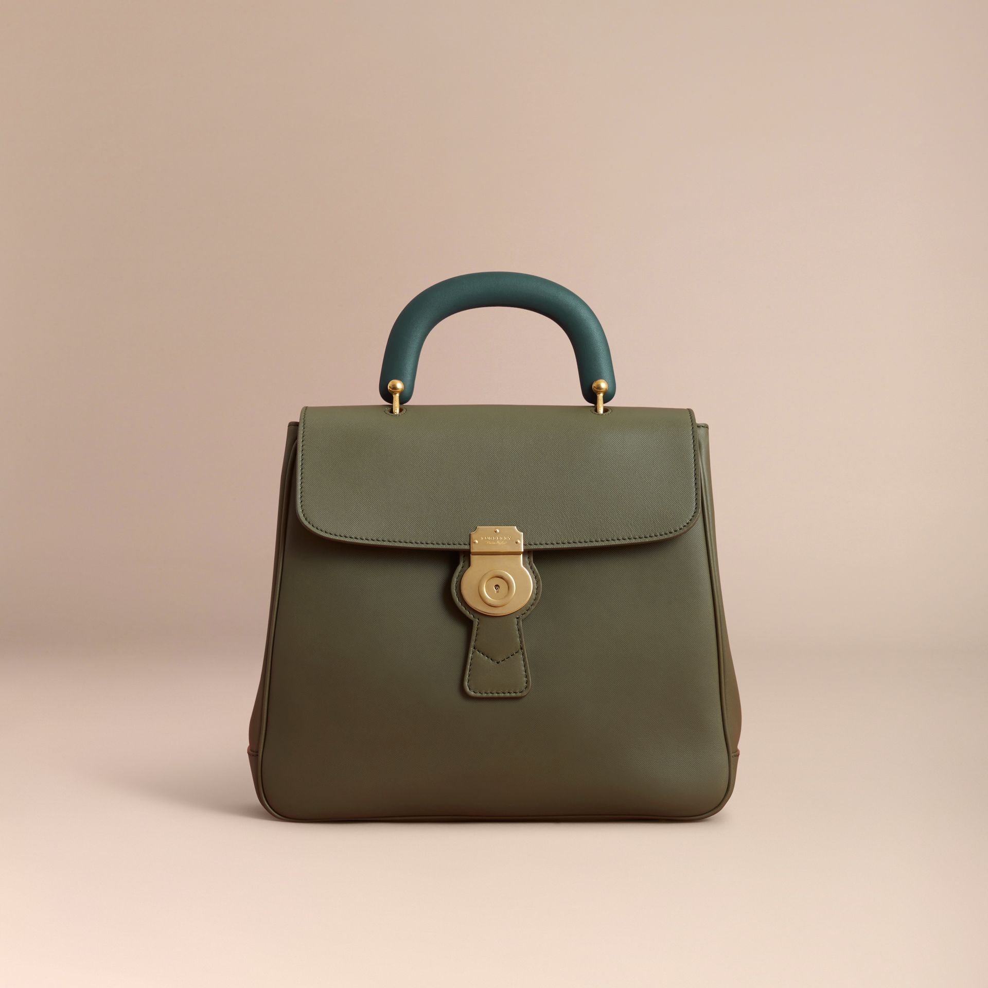 The Large DK88 Top Handle Bag in Moss Green - Women | Burberry Australia - gallery image 7