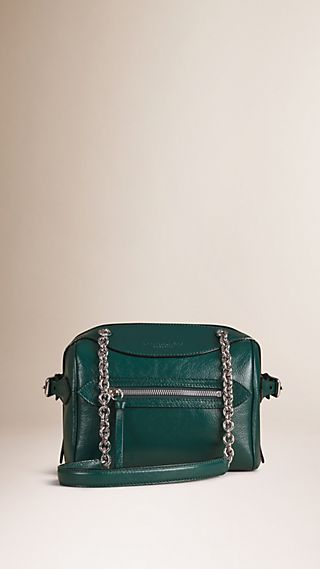 The Small Alchester in Patent Leather with Chain Straps