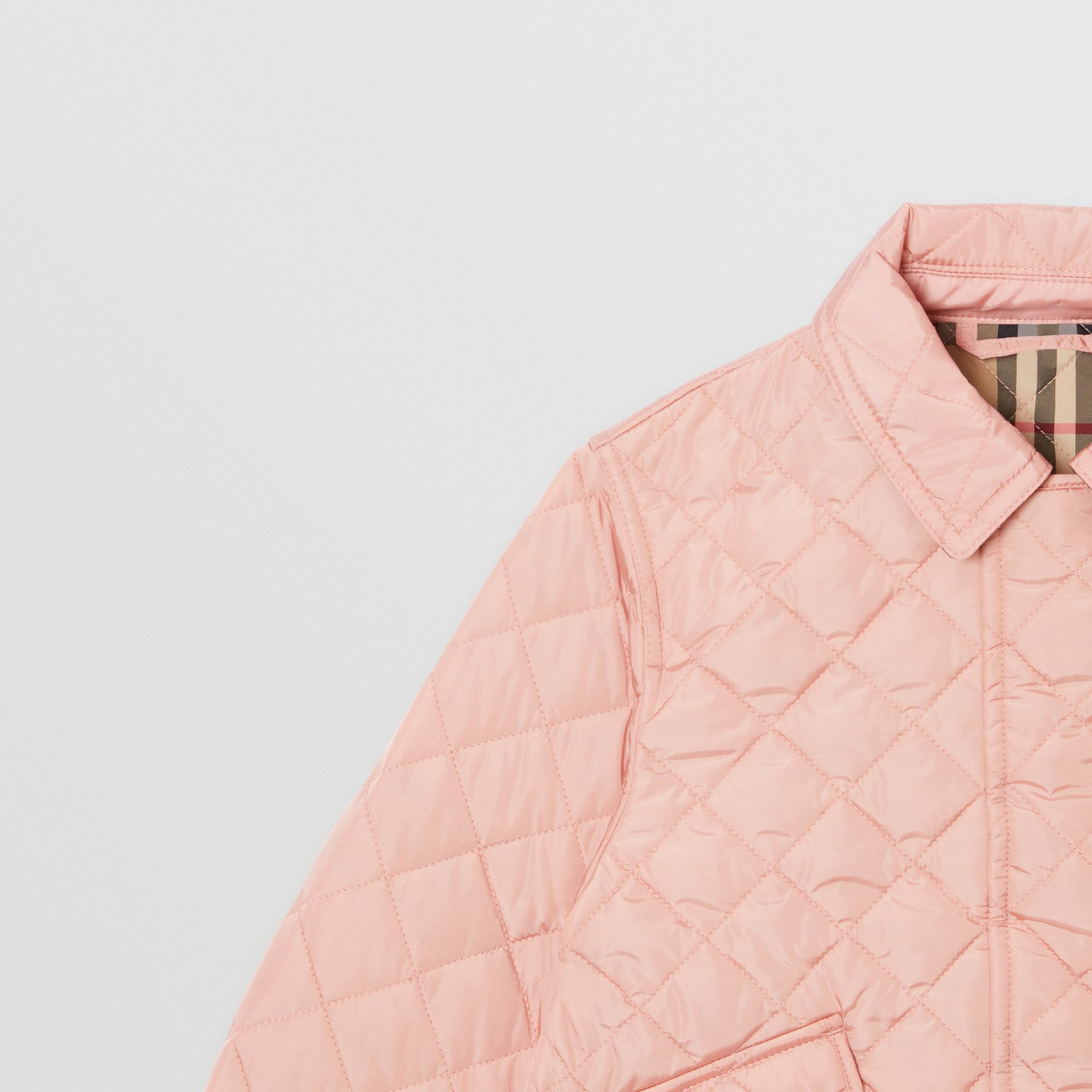 Lightweight Diamond Quilted Jacket in Dusty Pink | Burberry - gallery image 4