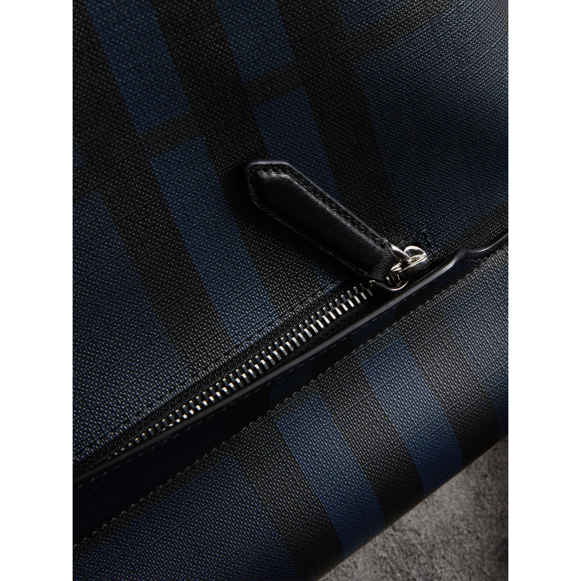 Large London Check Messenger Bag in Navy/black | Burberry - gallery image 2