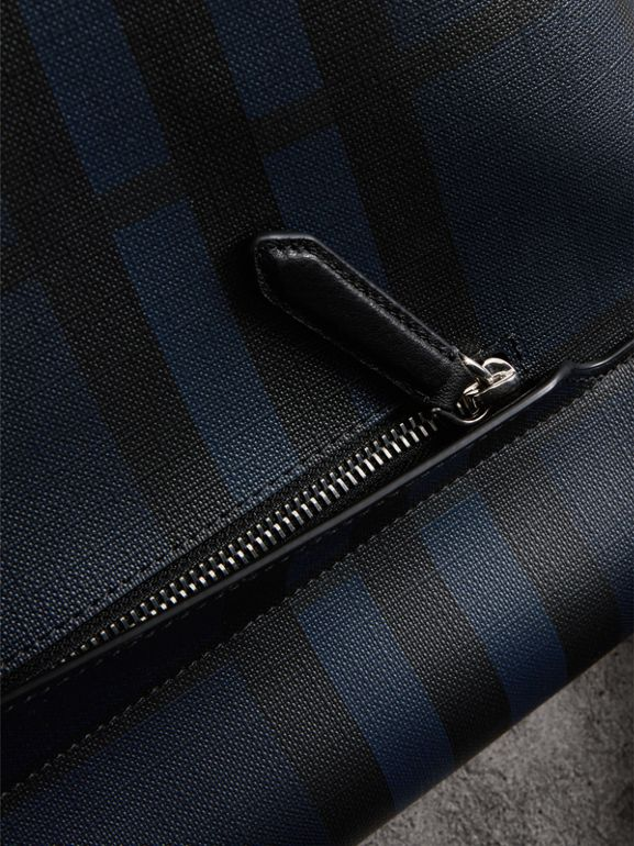 Large London Check Messenger Bag in Navy/black | Burberry United States - cell image 1
