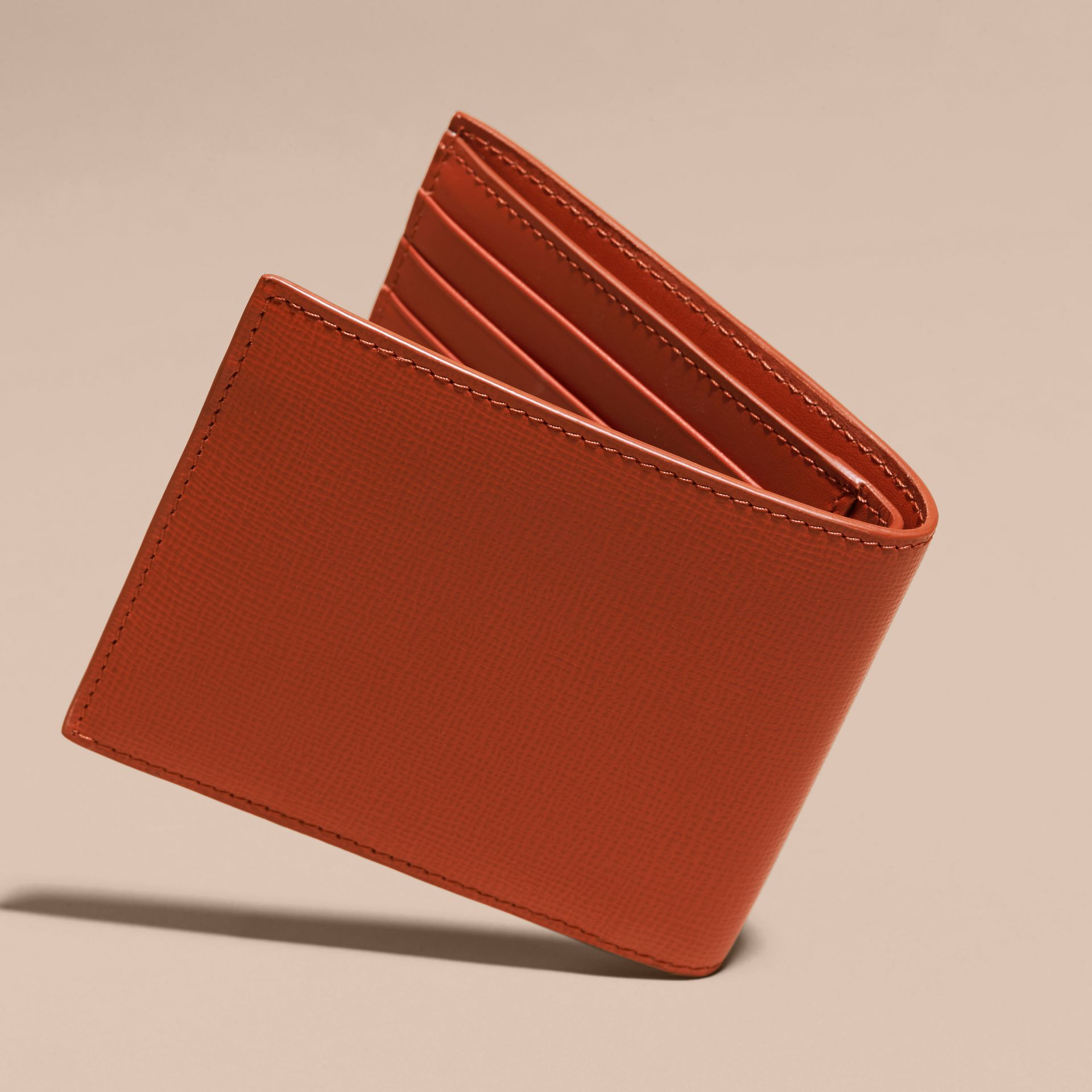 London Leather ID Wallet Burnt Sienna - gallery image 4