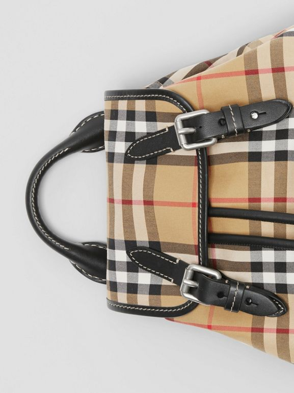 The Small Rucksack in Vintage Check and Leather in Antique Yellow - Women | Burberry Singapore - cell image 1