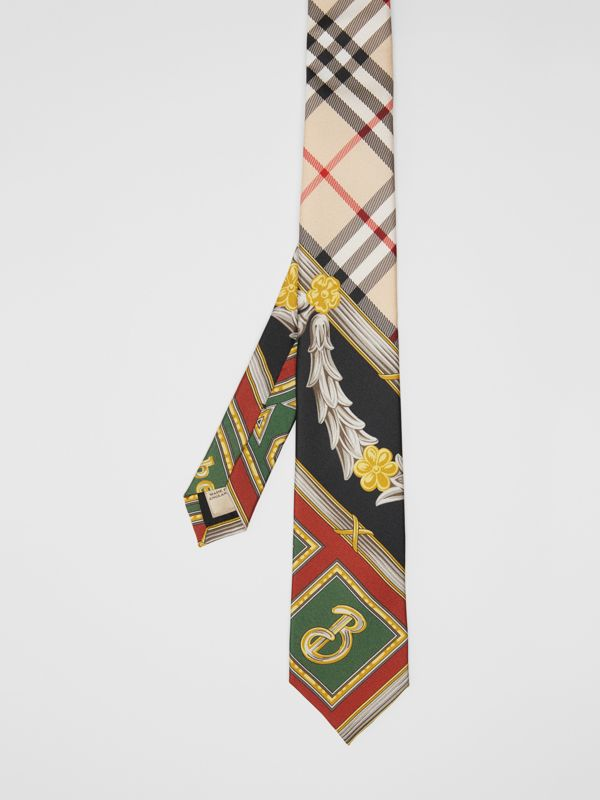Modern Cut Archive Scarf Print Silk Tie in Dark Green - Men | Burberry United States - cell image 3