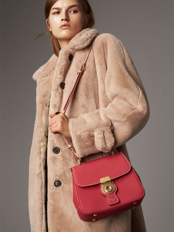 The Small DK88 Top Handle Bag with Geometric Print in Sugar Pink/natural - Women | Burberry - cell image 2