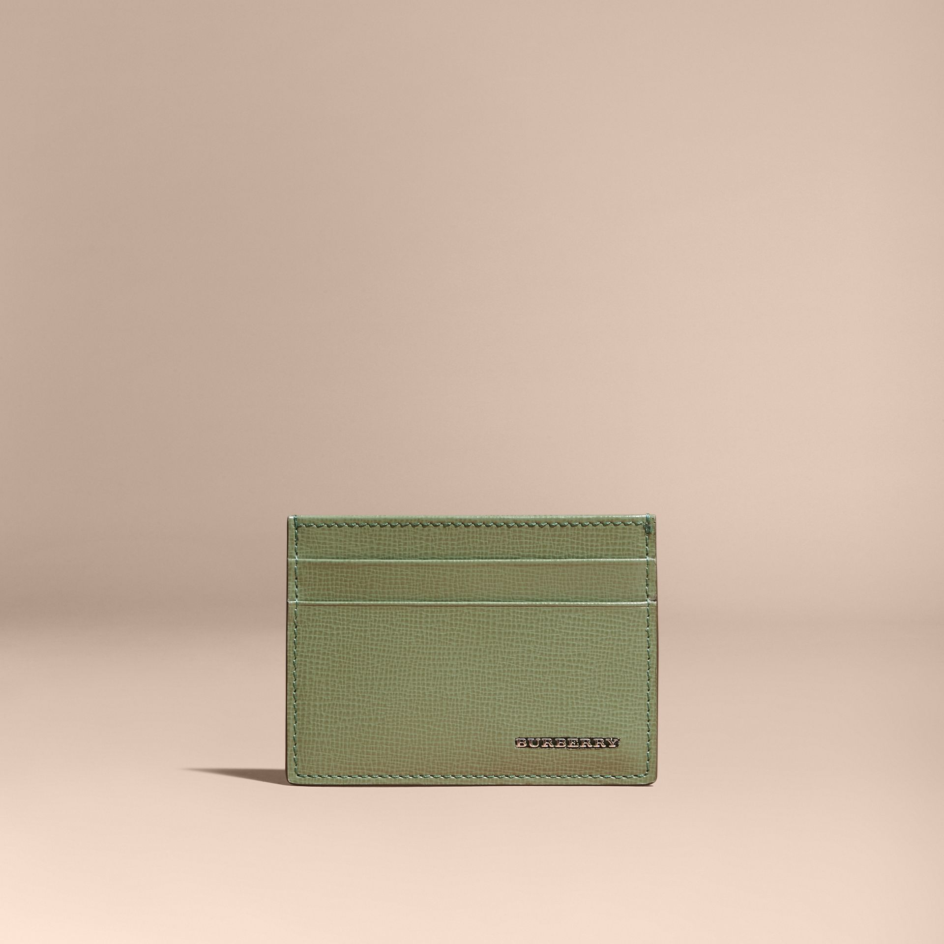 London Leather Card Case in Antique Green - gallery image 6