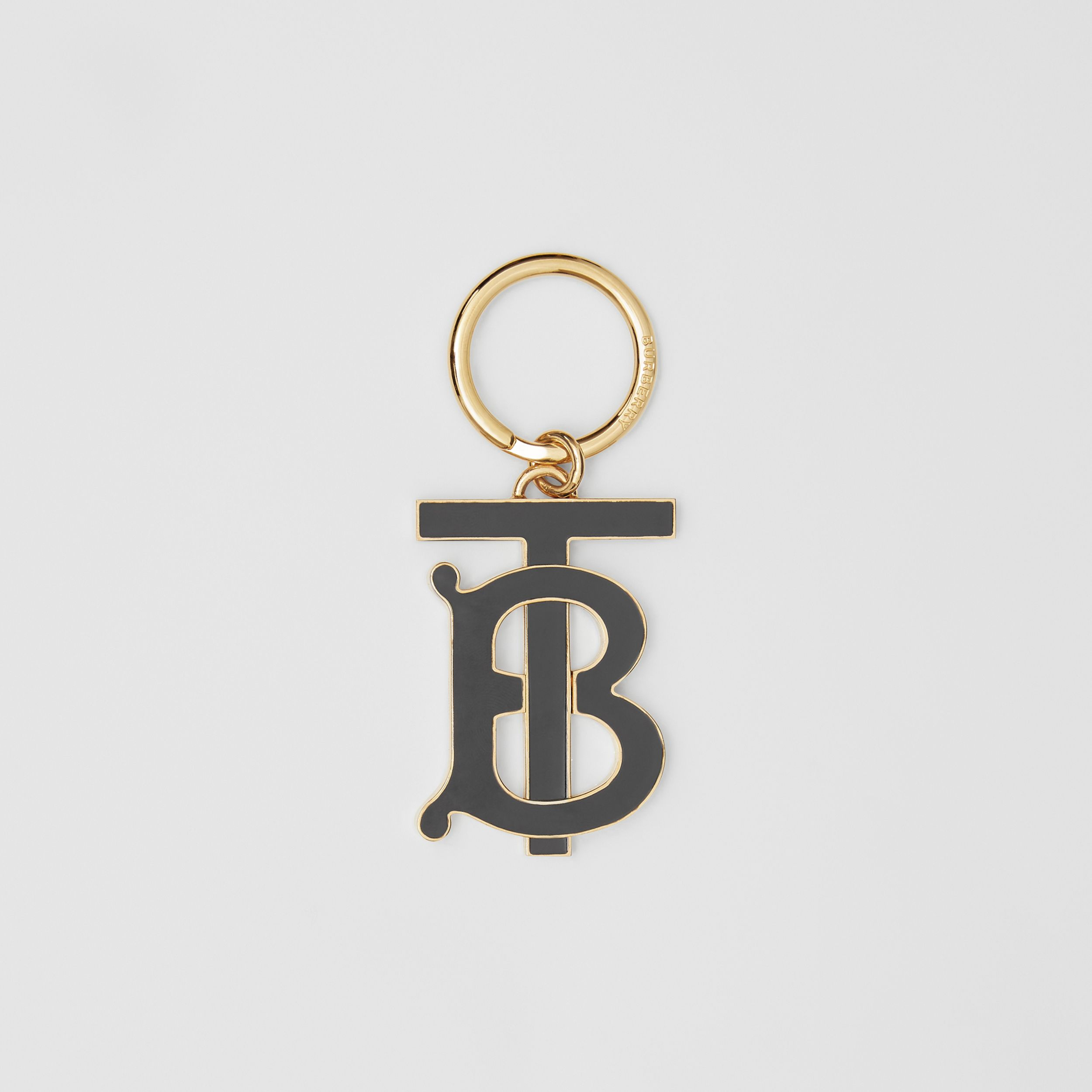 Monogram Motif Gold-plated Key Charm in Black - Women | Burberry - 1