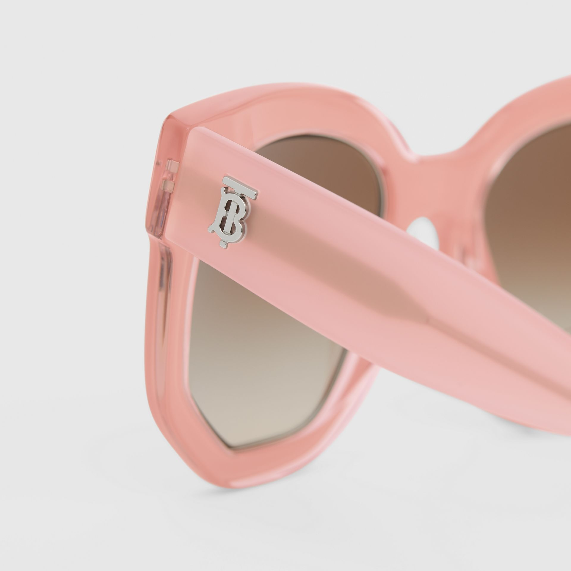 Geometric Frame Sunglasses in Pink - Women | Burberry Australia - gallery image 1
