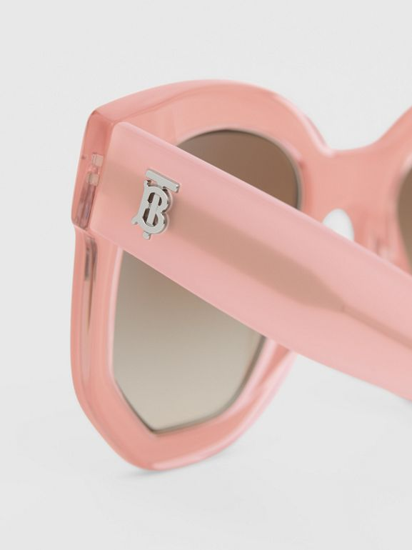 Geometric Frame Sunglasses in Pink - Women | Burberry Australia - cell image 1