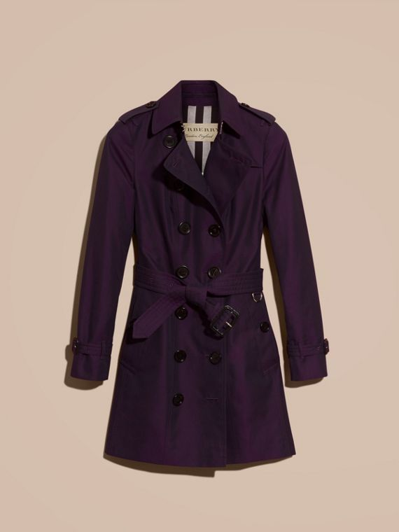 Dark purple Cotton Gabardine Trench Coat Dark Purple - cell image 3