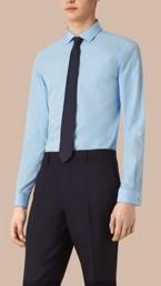 Slim Fit Double Cuff Cotton Poplin Shirt