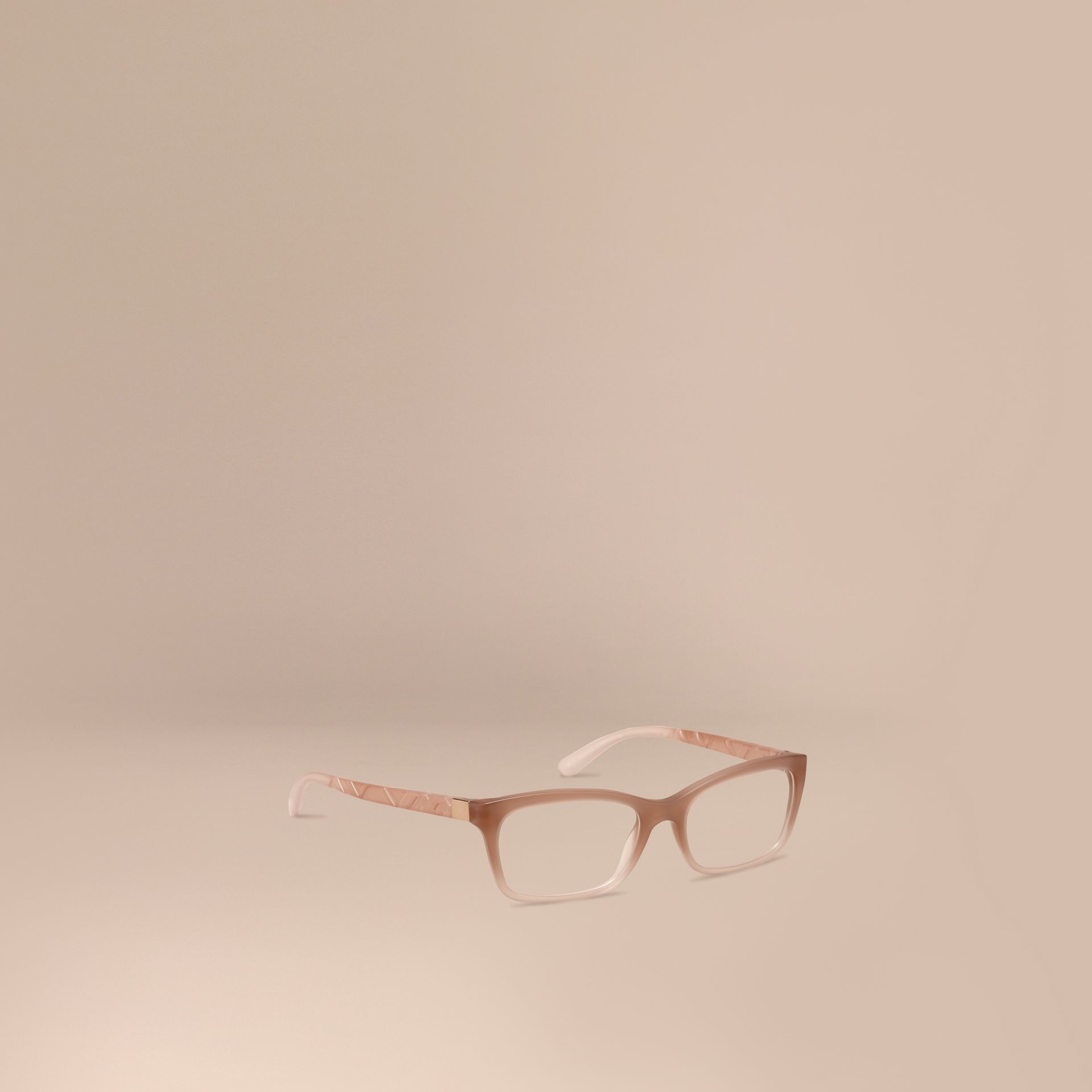 Trench Check Detail Rectangular Optical Frames Trench - gallery image 1