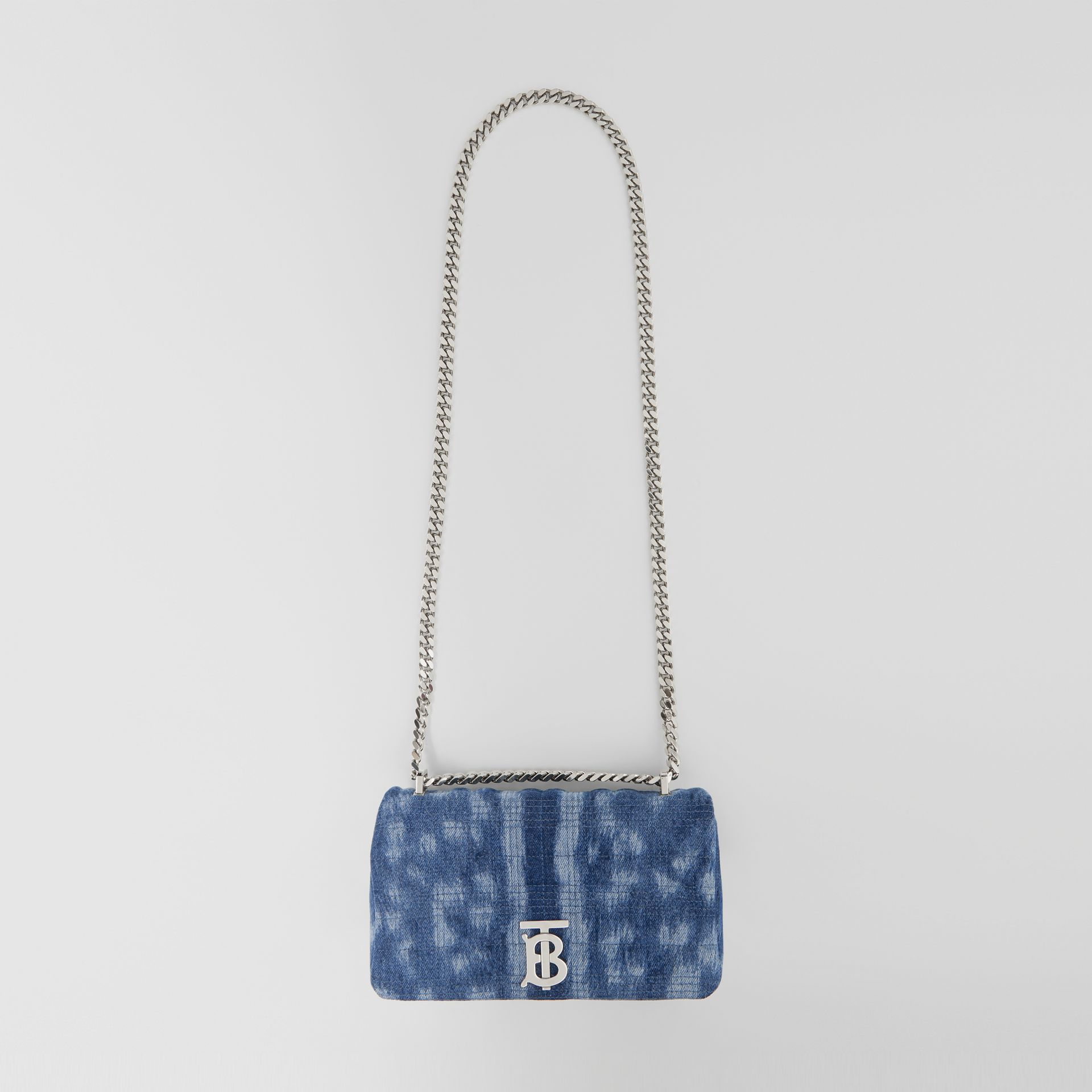 Small Quilted Denim Lola Bag in Blue | Burberry - gallery image 3