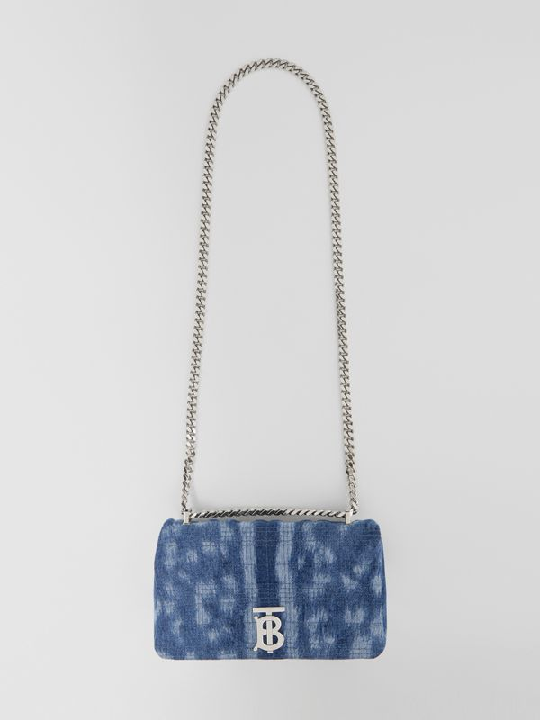 Small Quilted Denim Lola Bag in Blue | Burberry - cell image 3