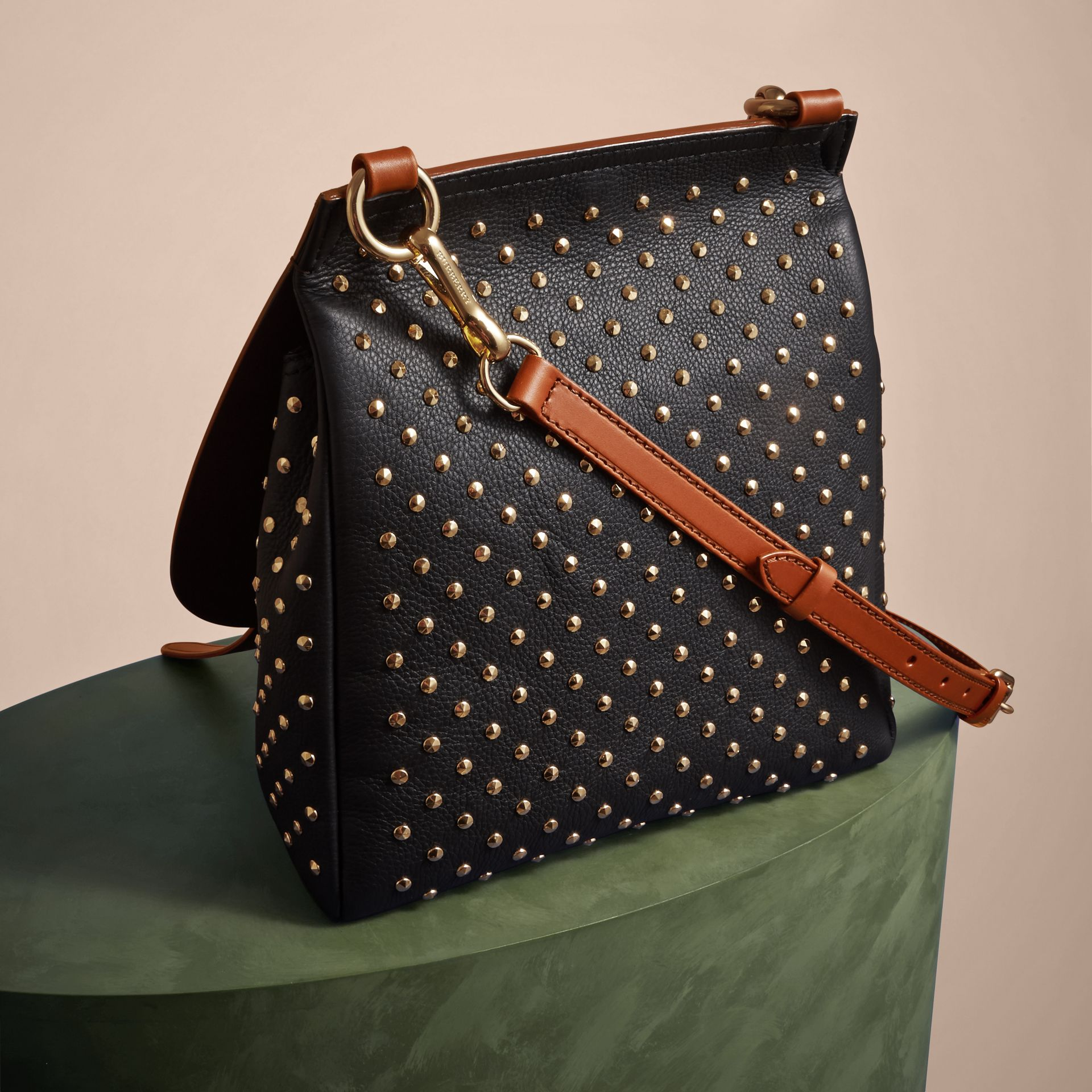 The Small Bridle Bag in Riveted Leather - gallery image 4
