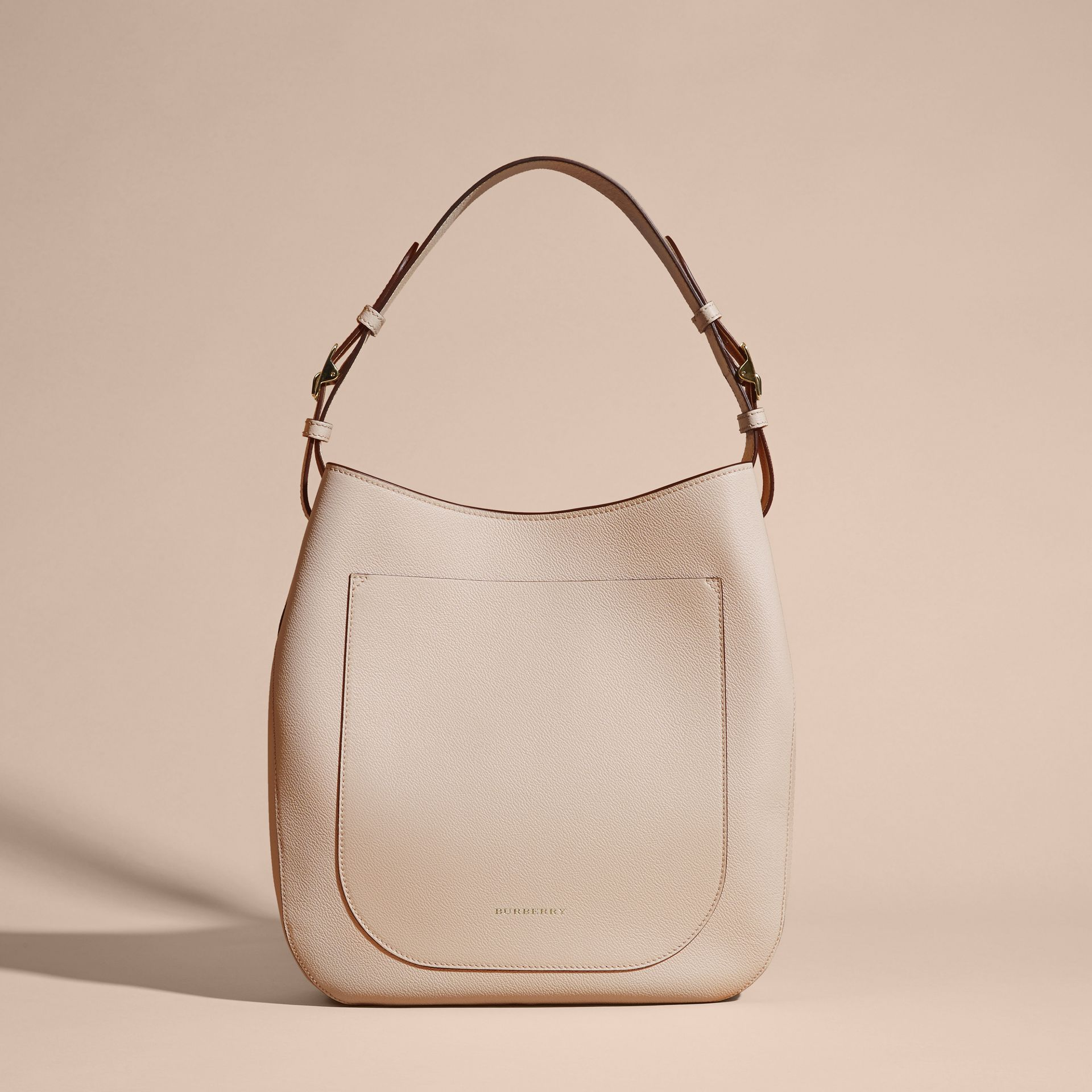 Limestone Textured Leather Shoulder Bag Limestone - gallery image 8