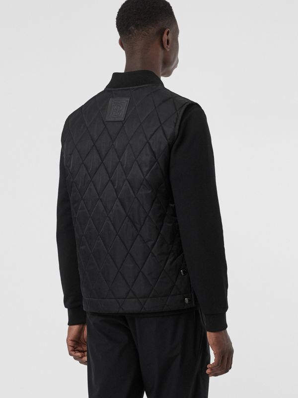 Monogram Motif Diamond Quilted Gilet in Black - Men | Burberry Canada - cell image 2