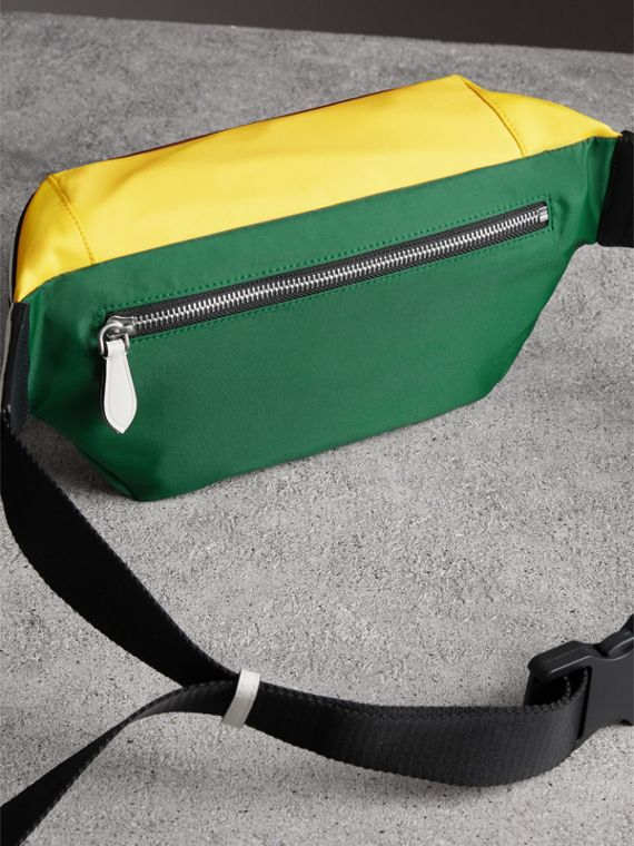 Tri-tone Nylon and Leather Bum Bag in Pine Green | Burberry Singapore - cell image 2