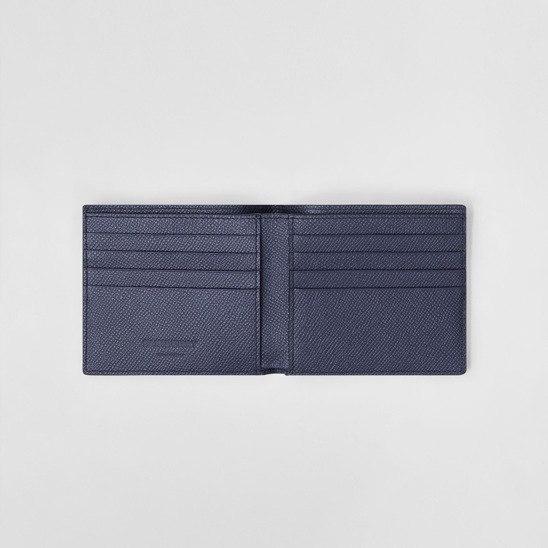Grainy Leather International Bifold Wallet in Regency Blue - Men | Burberry United Kingdom - gallery image 2