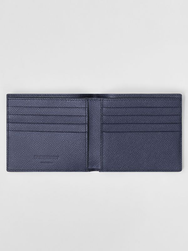 Grainy Leather International Bifold Wallet in Regency Blue - Men | Burberry United Kingdom - cell image 2