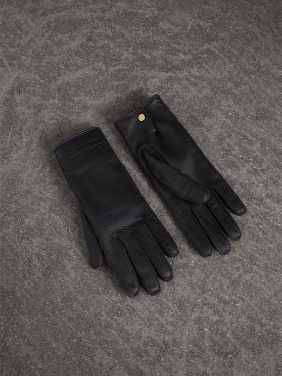 Deerskin Gloves in Black