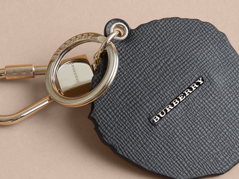 Pallas Heads Print Leather Key Ring - Men | Burberry - cell image 1