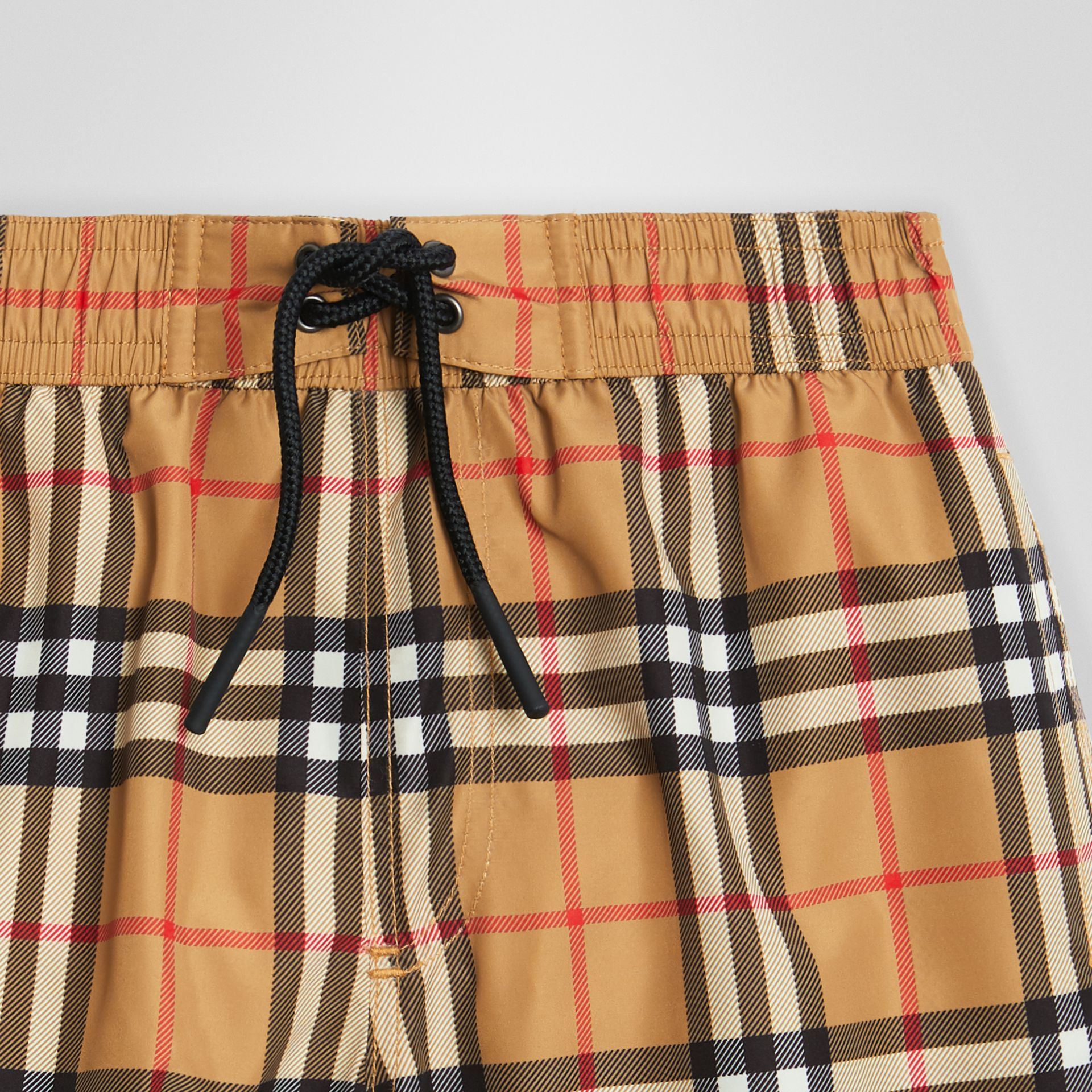 Vintage Check Swim Shorts in Antique Yellow | Burberry United Kingdom - gallery image 4
