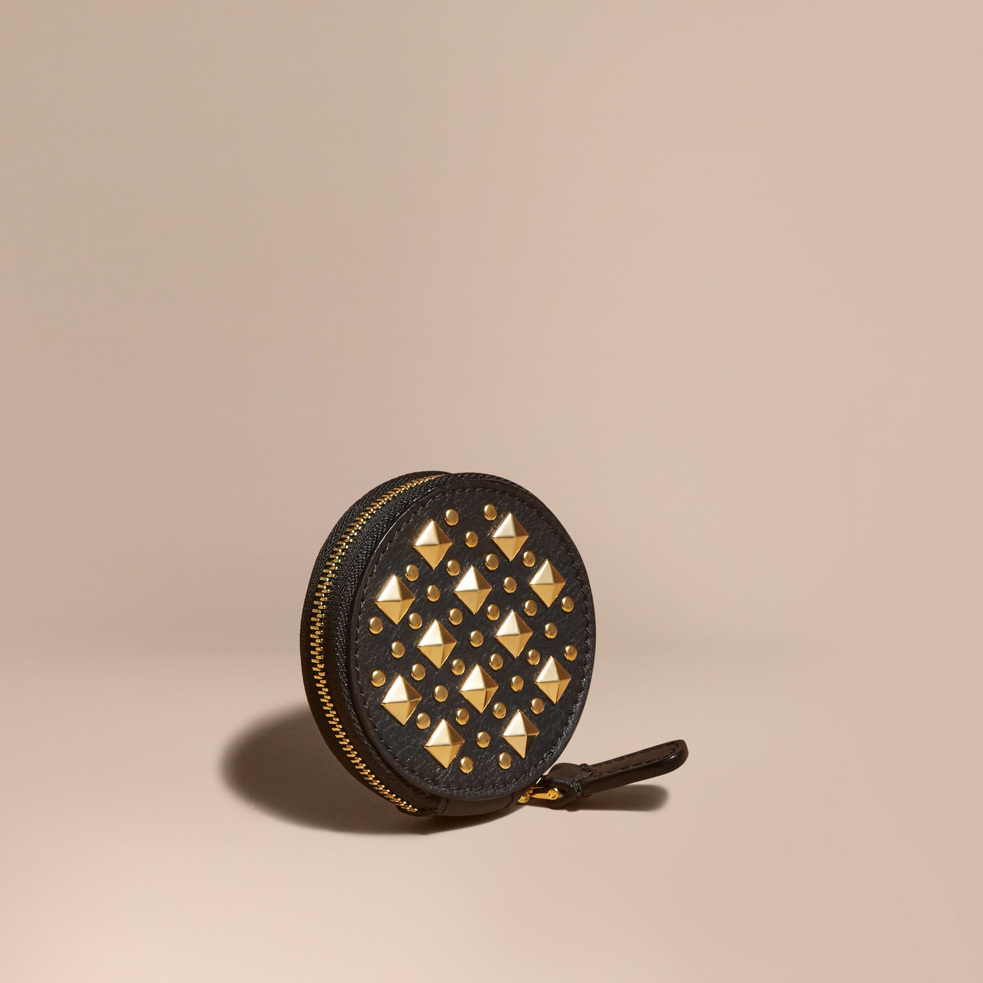 Studded Leather Coin Case - gallery image 1