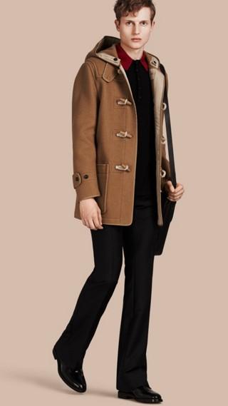 Duffle-coat en laine feutrée mélangée
