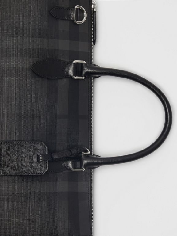 Large London Check Briefcase in Charcoal/black - Men | Burberry Singapore - cell image 1