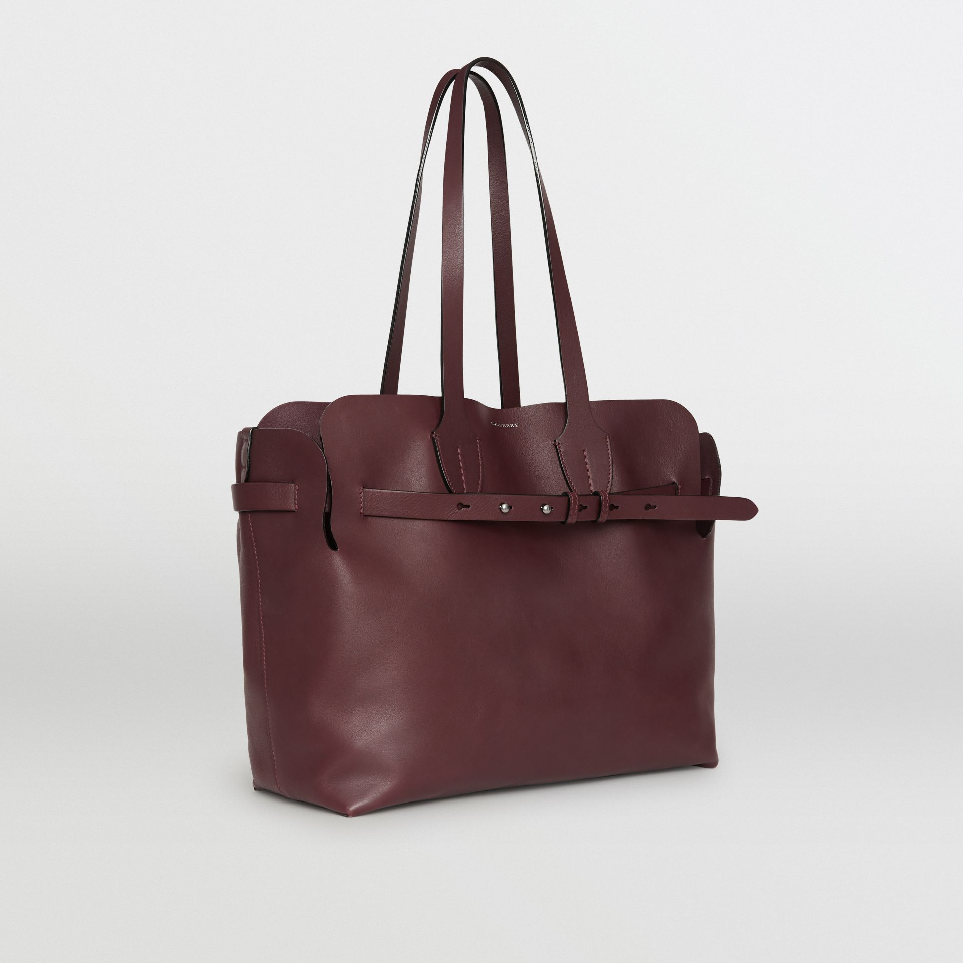 The Medium Soft Leather Belt Bag in Deep Claret - Women | Burberry United Kingdom - gallery image 4