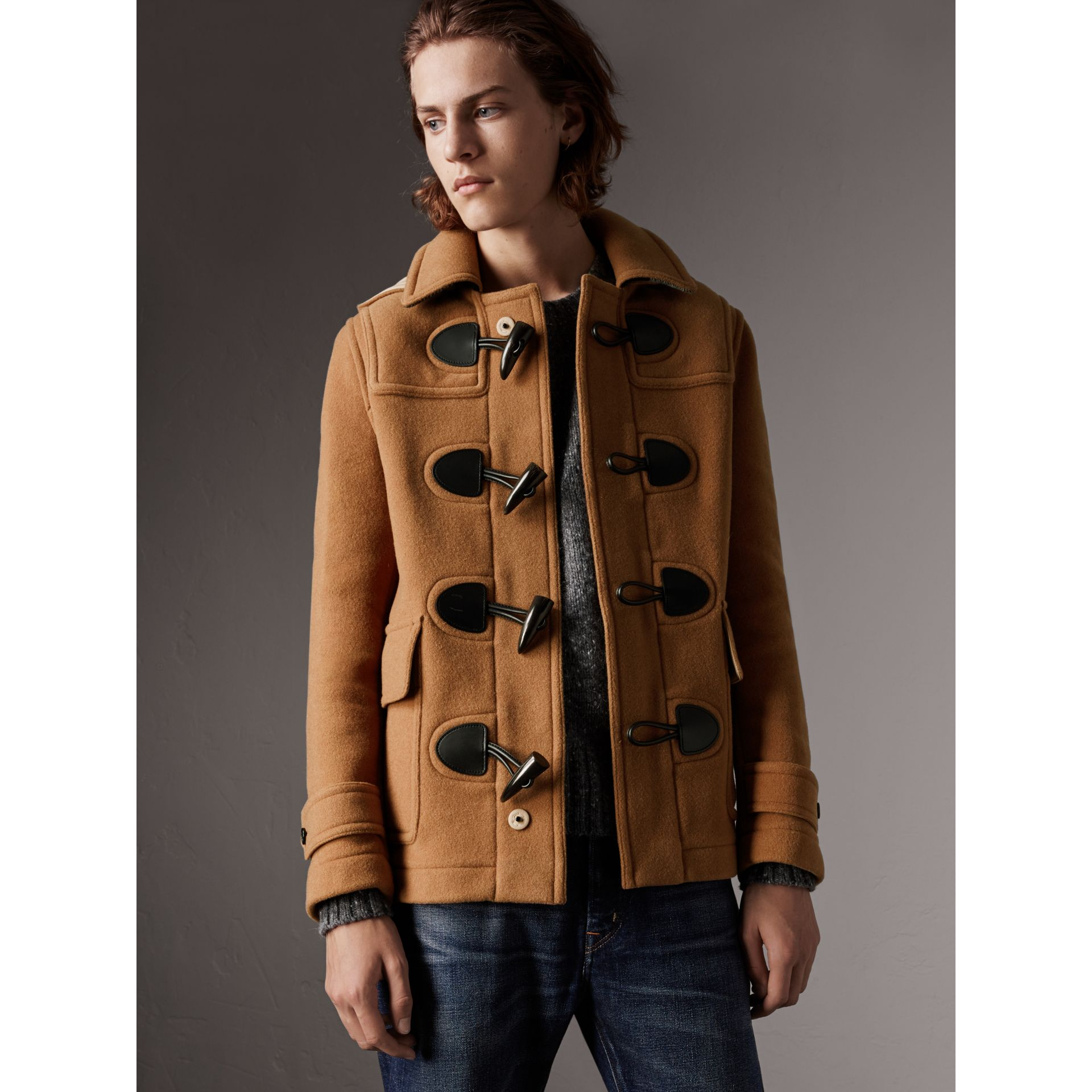 The Plymouth Duffle Coat in Mid Camel - Men | Burberry Singapore - gallery image 0