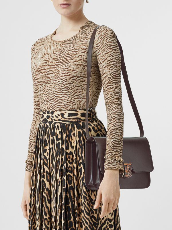Medium Leather TB Bag in Coffee - Women | Burberry Singapore - cell image 2