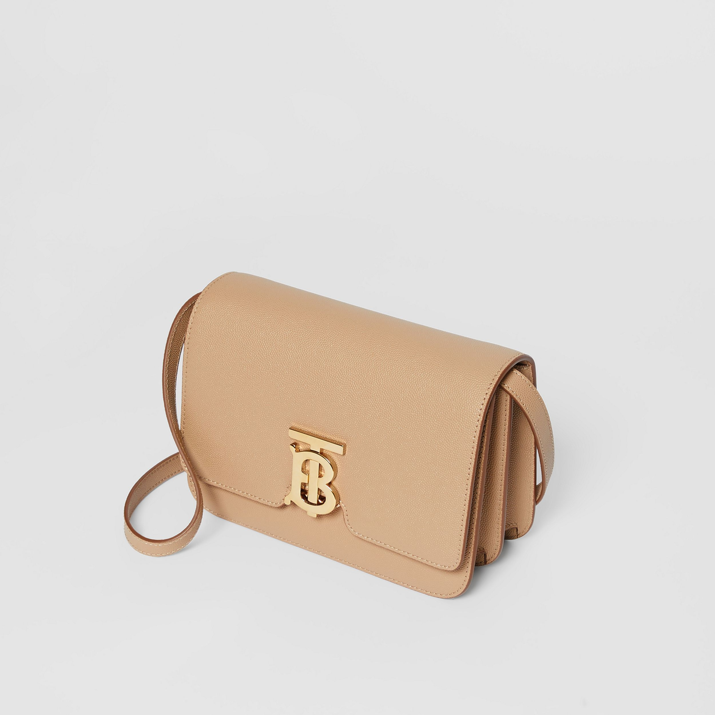 Small Grainy Leather TB Bag in Archive Beige | Burberry - 4